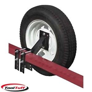 Utility Trailer Spare Tire Holder Carrier Mount Rack Fits 4 or 5 Lug Tires