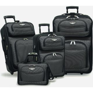 Travelers Choice Amsterdam 4 Piece Two Tone Travel Set