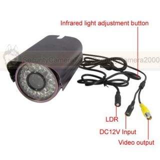 "Outdoor Car License Plate Camera 420TVL 1 3"" Sony CCD Chipsets 50M IR Night"