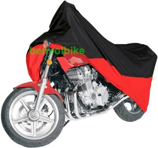Black Red Motorcycle Cover for Kawasaki KLE 500 Motorcycle Cover L