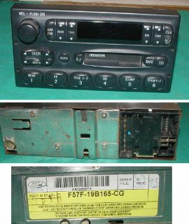 Ford F57F 19B165 CG Radio Cassette Player Crown Victoria Explorer Expedition