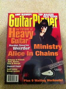 March 1996 Guitar Players Magazine Alice in Chains Ministry