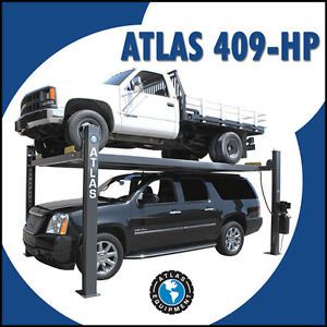 Atlas 409 HP 9 000 lb Portable Vehicle 4 Post Storage Lift Extra Tall Wide