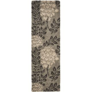 Safavieh Florida Shag Smoke/Dark Brown Rug