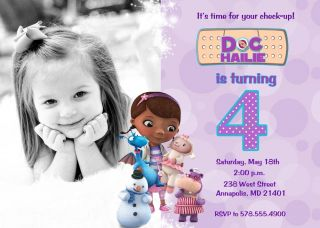 Doc McStuffins Printable Birthday Party Invitation