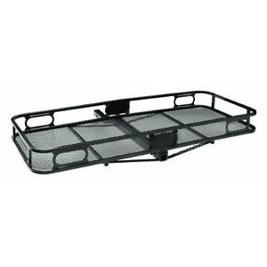 Black Trailer Hitch Mount Cargo Carrier Storage Rack Car Truck Receiver Travel