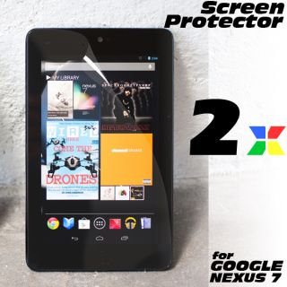 2 x Google Nexus 7 LCD Screen Protector Guard Crystal Clear