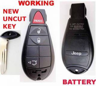 2008 10 Jeep Grand Cherokee Uncut Key Remote 05026308AD