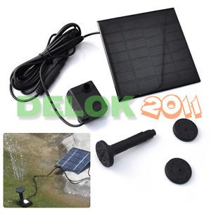 Solar Panel Power Submersible Fountain Pond Water Pump USA SHIP
