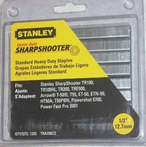 "Stanley Heavy Duty Sharp Shooter 1 2"" Staple Gun Staples 1325pc"