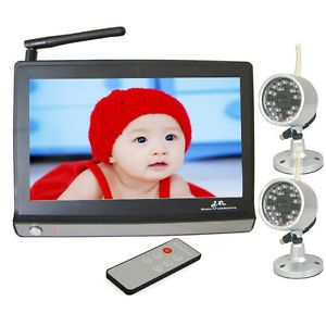 7''LCD Wireless Night Vision Video Camera Baby Monitor Security Cameras Receiver