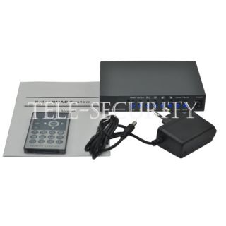 CCTV 4 Channel Color Quad Security System VGA Video Processor