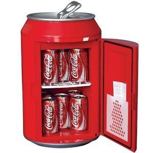 Coca Cola Coke Can Office Home Room Small Mini Fridge Refrigerator Cooler CC10
