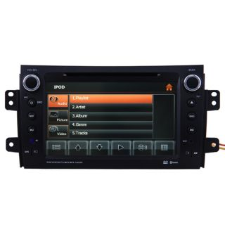 Car GPS Navigation Double DIN 2 DIN TFT TV DVD Player Radio for 06 10 Suzuki SX4