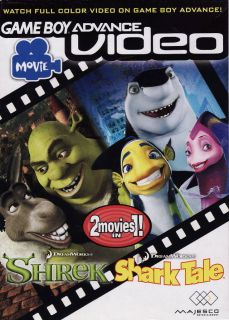 Brand New Factory SEALED Shrek Shark Tale Game Boy Advance Video 2 Movies in 1