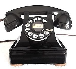 Vintage Western Electric Art Deco 302 Telephone Antique Phone