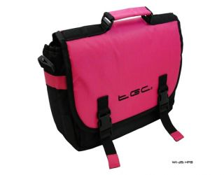 New Hot Pink Black Nintendo Wii U Messenger Style Console in Car Case Bag