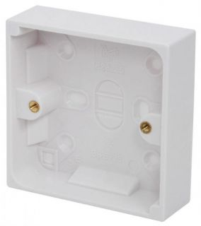 Mercury Electrical Socket Back Box Surface Mount 16 25 47mm Single Gang Switch