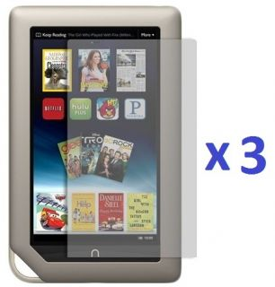 3X Premium Clear LCD Screen Protector Guard Cover for Barnes Noble Nook Tablet