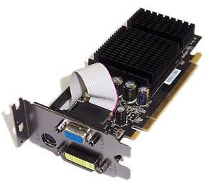 XFX PV T72S Rang PCIe GeForce 7200GS Graphics Card Low Profile Bracket