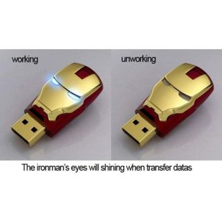 High Speed Iron Man Shape USB 2 0 Memory Stick Flash Disk Drive 64G 128GB