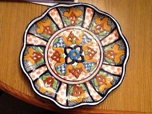 Talavera Original Virgilio Perez Mexican Decor Pottery Wall Plate Puebla Mexico