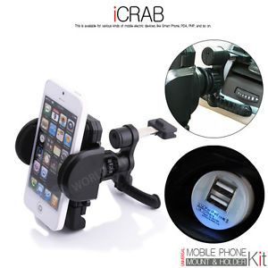 Universal Car Air Vent Mount Holder Stand Cradle Charger Android Smartphone