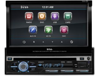 "Boss BV9977 Car DVD CD Player 7"" Touchscreen Monitor USB iPod in Color Changing"