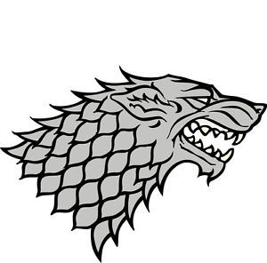 "15"" Game of Thrones Stark Sigil House Vinyl Decal Cars Window Stickers"