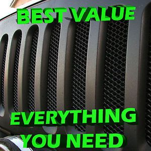 Black Grill Inserts for Your Jeep Wrangler JK Rugged Radiator Armor 2007 2012