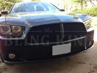 Dodge Charger Black Chrome Mesh Bentley Grille Grill Bently 2011 2012 2013