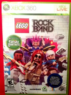 Lego Rock Band Microsoft Xbox 360 Xbox Live Brand New Factory SEALED