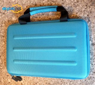 Microsoft Surface RT Deluxe Cyan Hard Shell Zippered Travel Case Eva