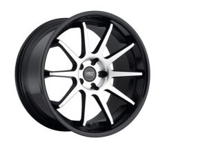 "20"" Concept One CS10 Concave Black Staggered Wheels Rims Fits BMW F30 Sedan"
