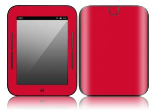 CP6 Barnes Noble Nook Color Touch Decal Skin Sticker Cover Simply Red