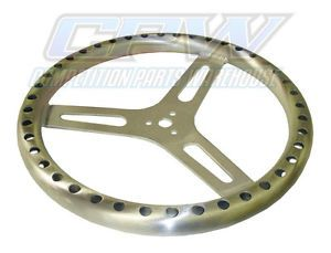 "15"" Flat Aluminum Racing Steering Wheel Sprint Car"