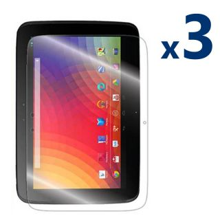 3 Clear LCD Screen Protector Cover Film Guard for Samsung Google Nexus 10 Tablet