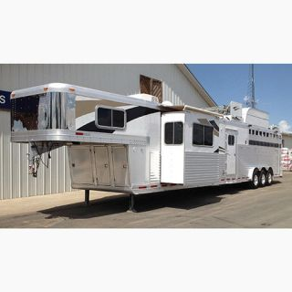 2011 Platinum Stock Combo Horse Bull Cattle Trailer 15' Trail Boss LQ Slide
