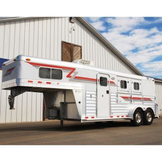 2003 4 Star 2 Horse with 6' Weekend Package LQ Living Quarter All Aluminum