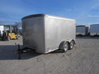 8557 Used 2006 Atlas 7x12' Tandem Axle Enclosed Cargo Trailer 7K GVW Cargo Doors