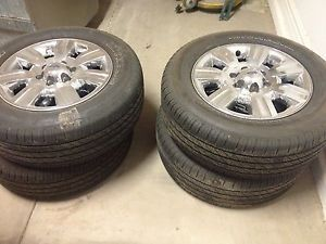 Set of 4 New Ford F 150 Rims and Tires Michelin Tires Under 1000 Miles on Them