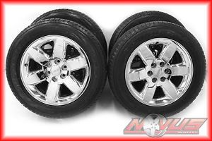 "20"" GMC Yukon Denali Tahoe Silverado Chrome Clad Rims Wheels Goodyear Tires 22"