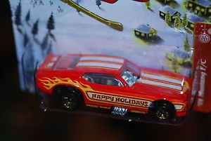 2012 Hot Wheels 1971 Mustang Funny Car Red Holiday Hot Rods x mas Wal Mart Only