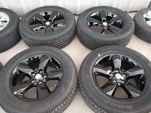 "20"" Dodge RAM 1500 Black Express Factory Wheels Goodyear Tires Rims"