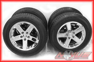 "20"" Dodge RAM 1500 Durango Factory Chrome Wheels Goodyear Tires 22 18"