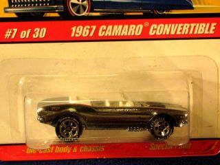 Hot Wheels Classics 1967 Camaro Convertible Goodyear Tires Spectraflame Silver
