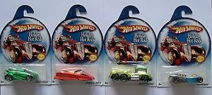 Lot of 4 Hot Wheels Holiday Hot Rods Mint on Cards Great Holiday Gifts