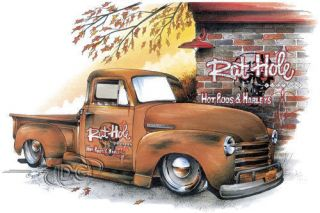 Chevy T Shirt Chevrolet Pickup Rat Hole Hot Rods Tee Classic Car