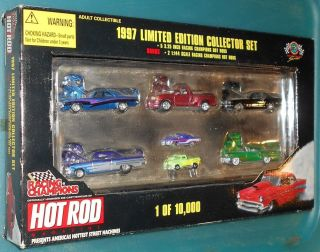 1997 Racing Champions Limited Edition Collectors Set 5 Cars 2 Mini Hot Rods