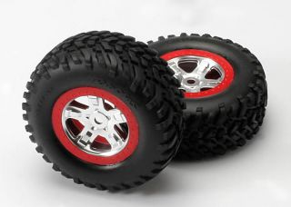 Traxxas Slayer Truck Tires Rims Pre Mounted 5973A